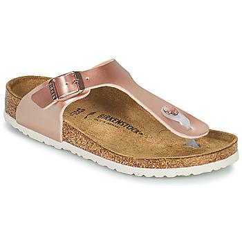Shoes Girl Flip flops Birkenstock GIZEH Pink / Gold
