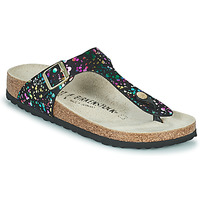 Shoes Girl Flip flops Birkenstock GIZEH Black / Multicolour