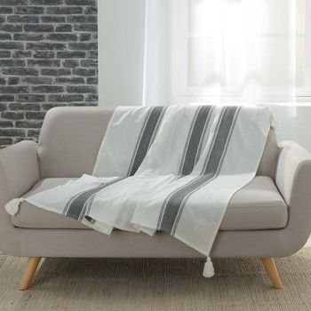 Home Blankets, throws Douceur d intérieur INDIRA Anthracite
