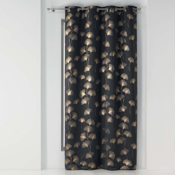 Home Curtains & blinds Douceur d intérieur GINKGOLD OCCULTANT Anthracite / Gold