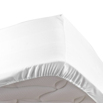 Home Fitted sheet Douceur d intérieur PERCALINE White