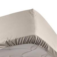 Home Fitted sheet Douceur d intérieur PERCALINE Natural
