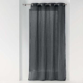 Home Sheer curtains Douceur d intérieur ZAZY Anthracite