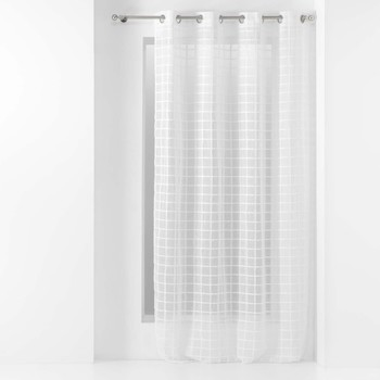 Home Sheer curtains Douceur d intérieur KARRONA White