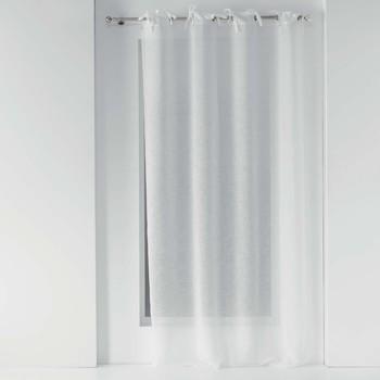 Home Sheer curtains Douceur d intérieur CHARLOTTE White