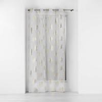 Home Sheer curtains Douceur d intérieur SUNNY GOLD Sable