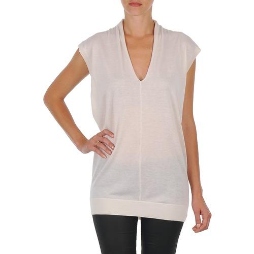 material Women Tunics Joseph V NK TUNIC White