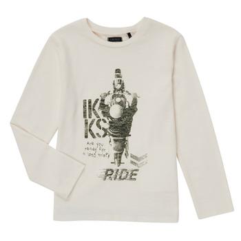 material Boy Long sleeved shirts Ikks CERISE White