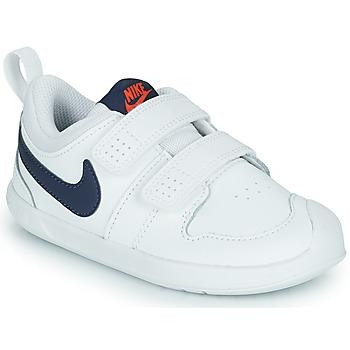 Shoes Children Low top trainers Nike NIKE PICO 5 (TDV) White / Blue
