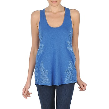 material Women Tops / Sleeveless T-shirts Stella Forest YDE009 Blue