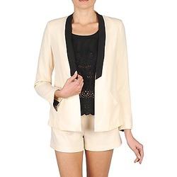 material Women Jackets / Blazers Stella Forest YVE005 Ecru