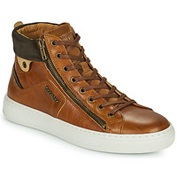 Shoes Men High top trainers Redskins HOPESO Cognac