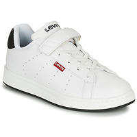 Shoes Children Low top trainers Levi's LINCOLN White / Black