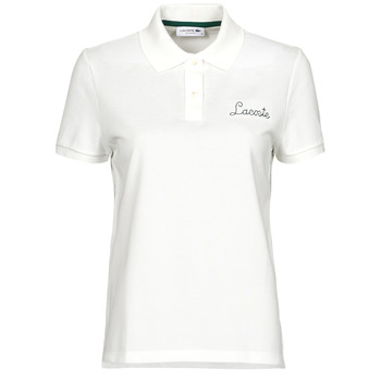material Women short-sleeved polo shirts Lacoste PF7251 White