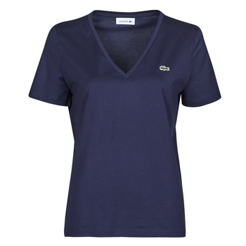 material Women short-sleeved t-shirts Lacoste LOUIS Marine