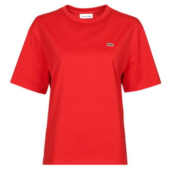 material Women short-sleeved t-shirts Lacoste JULES Red