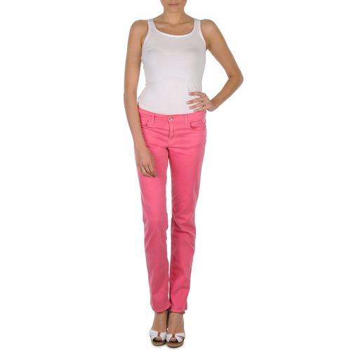 material Women 5-pocket trousers Gant DANA SPRAY COLORED DENIM PANTS Pink
