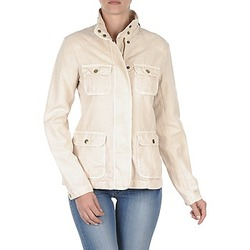 material Women Blouses Gant COTTON LINEN 4PKT JACKET Cream