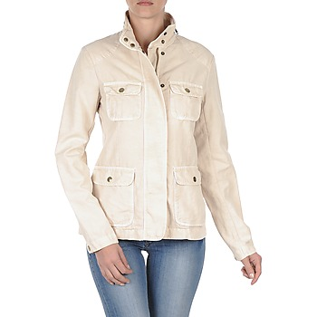 Jackets Gant COTTON LINEN 4PKT JACKET Cream 350x350