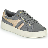 Shoes Women Low top trainers Gola BASELINE MARK COX MIRROR Grey / Gold