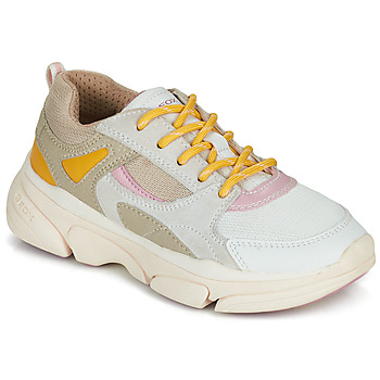 Shoes Girl Low top trainers Geox J LUNARE GIRL Beige