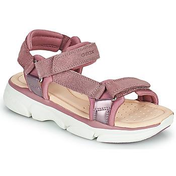 Shoes Girl Sandals Geox J SANDAL LUNARE GIRL Pink