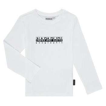 material Boy Long sleeved shirts Napapijri S-BOX LS White