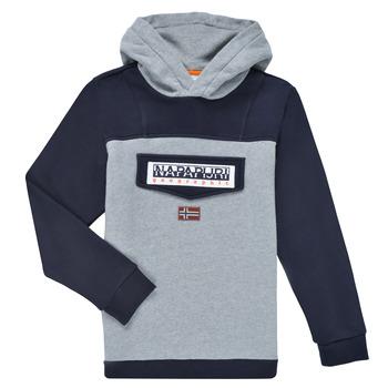 material Boy sweaters Napapijri BURGEE Grey / Black