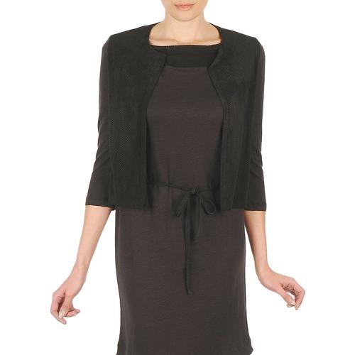 material Women Jackets / Cardigans Majestic BERENICE Black
