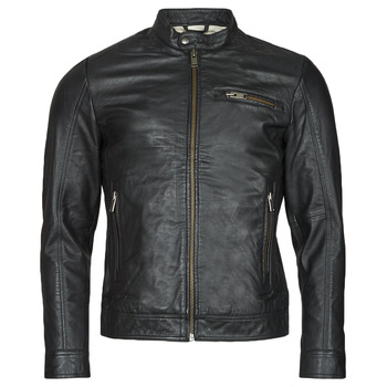 material Men Leather jackets / Imitation leather Selected SLHICONIC Black
