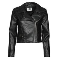 material Women Leather jackets / Imitation leather JDY JDYETTA Black