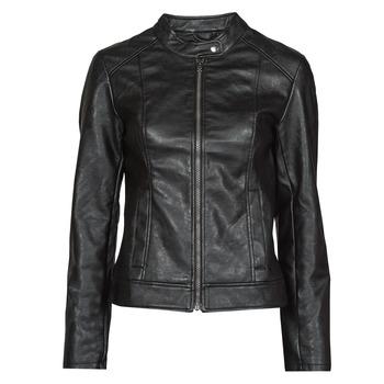 material Women Leather jackets / Imitation leather JDY JDYEMILY Black