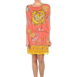 material Women Short Dresses Derhy ACCORDABLE Pink / Yellow