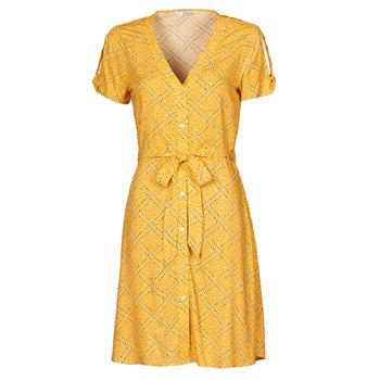 material Women Short Dresses Only ONLVIOLETTE Orange