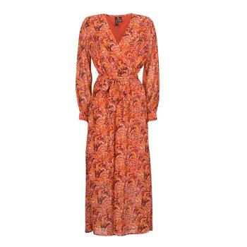 material Women Long Dresses Vero Moda VMFLOW Red