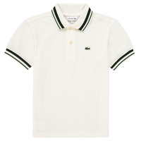 material Boy short-sleeved polo shirts Lacoste EMILIE White