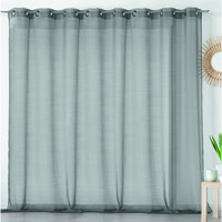 Home Sheer curtains Linder ETAMINE GIVREE Grey / Dark