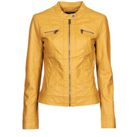 material Women Leather jackets / Imitation leather Only ONLBANDIT Yellow