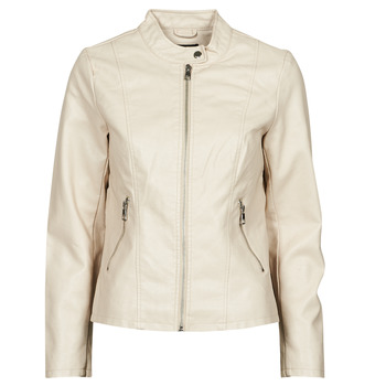 material Women Leather jackets / Imitation leather Only ONLMELISA Beige