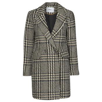 material Women coats Only ONLSELENA MINNA Black / Beige