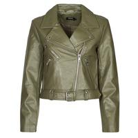 material Women Leather jackets / Imitation leather Only ONLVERA Kaki