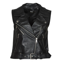 material Women Leather jackets / Imitation leather Only ONLVERA Black