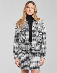 material Women Jackets / Blazers Moony Mood PABLAINCOURS Black / White