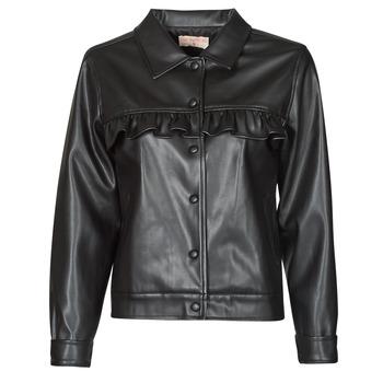 material Women Leather jackets / Imitation leather Moony Mood PABLIS Black