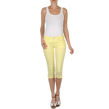 material Women cropped trousers Mustang Jasmin cropped Yellow