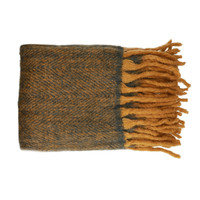 Home Blankets, throws Pomax COSY Turmeric