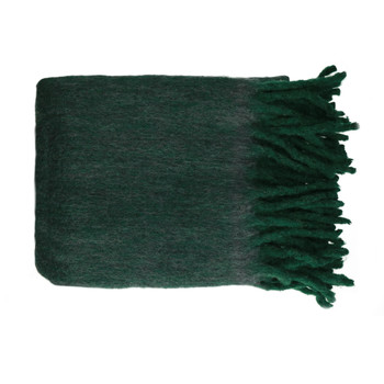 Home Blankets, throws Pomax COSY Green / Dark