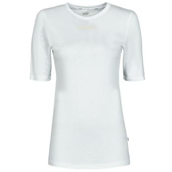material Women short-sleeved t-shirts Puma MBASIC TEE White