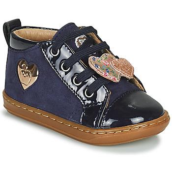 Shoes Girl High top trainers Shoo Pom BOUBA HEART Blue
