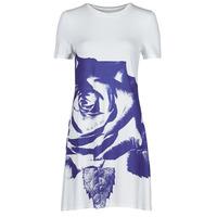material Women Short Dresses Desigual WASHINTONG White / Blue